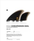 クリステンソン ツイン キール モデル サーフボード フィン