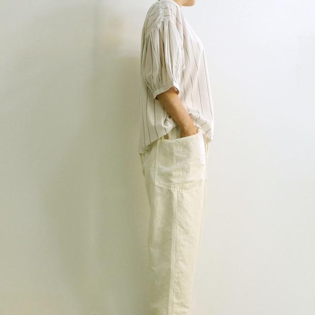 BROCANTE ブロカント モンシェットシャツ 36-231X  綿キュプラ パフスリーブシャツ