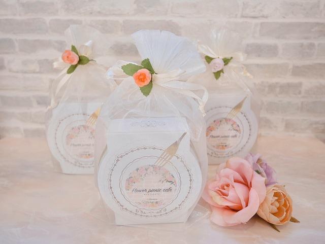 【お花のぼうろ専用ラッピング1缶分】オーガンジーバック+お花飾り付き