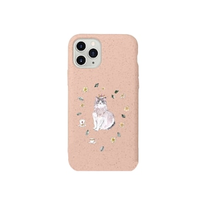 ミルクティケース《猫と薔薇》iPhone