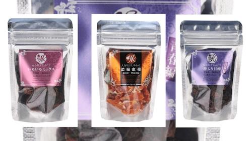 15袋(各3種×5袋)干しぶどうミックス&干しぶどう種入り巨峰青春篇&干しみかん