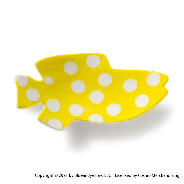 レオ・レオニ 豆皿 小皿 ミニ 皿 約8×4cm スイミー 黄ドット 瀬戸焼 278217