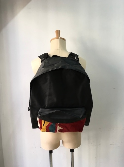 "Bagjack/ Daypack L/ B&S Special "" type B"" (バッグジャックのハイグロッシーナイロン×ハンドクラフト生地コンボのデイパック)"