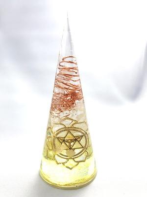 円錐型オルゴナイト【シトリン&天然水晶】
