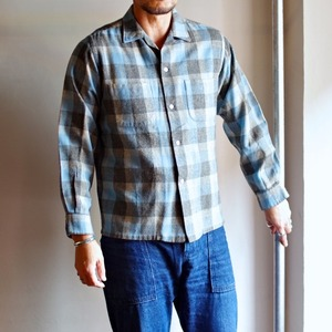 1960s PENNEY'S TOWNCRAFT Wool Shirt / ヴィンテージ ペニーズ タウンクラフト 開襟 ウールシャツ