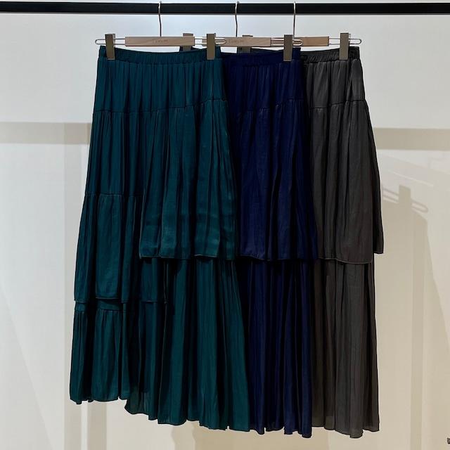 サテンランダムギャザースカート