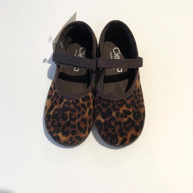 cienta ベルクロワンストラップ バレエシューズ  13.5cm~16cm brown(leopard)