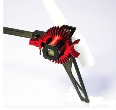 ★K110用 テールモーター用ヒートシンク 、テールモーター冷却装置、カラー / シルバー、レッド
