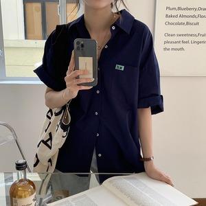 半袖オーバーサイズカラーシャツ LXZC78676
