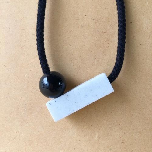 one we made earlier -Josef black- ネックレス