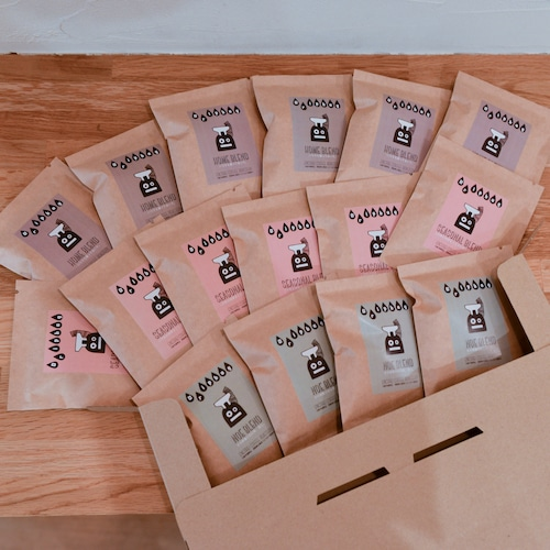 (お得な送料込み)手詰めのドリップバッグ - 3種類アソートセット(16コ入り)