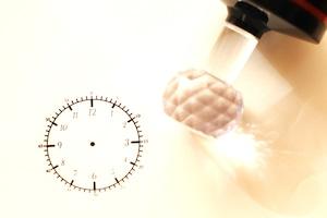 インクのいらない時計スタンプ (大)4.3センチ 時計のお勉強などに 知育学習