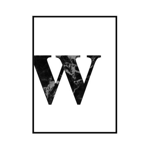 """""""w"""" 黒大理石 - Black marble - ALPHAシリーズ [SD-000550] A4サイズ ポスター単品"""