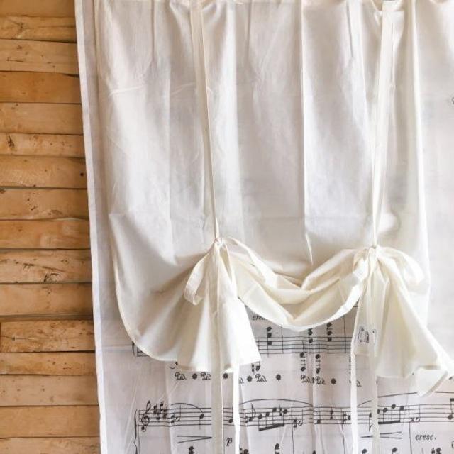 TOPANGA Homefurnishing  コットンシーチング ブラインドカーテン W110×H180cm