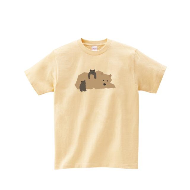 動物Tシャツ-ヒグマ(ナチュラル)