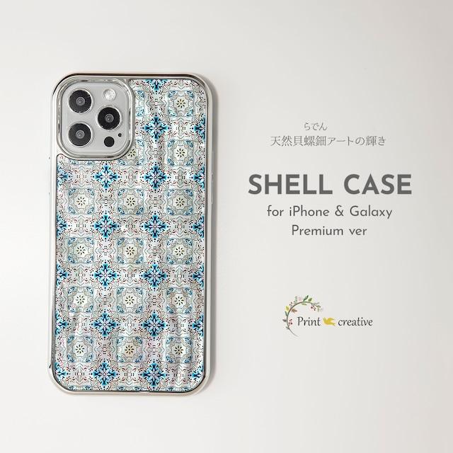【iPhone13対応】天然貝シェル★ルミエール(iPhoneプレミアムケース)|螺鈿アート