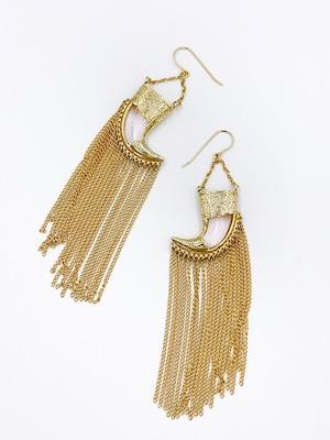 nOir Jewelry  ゴールド チェーンフリンジ ピアス