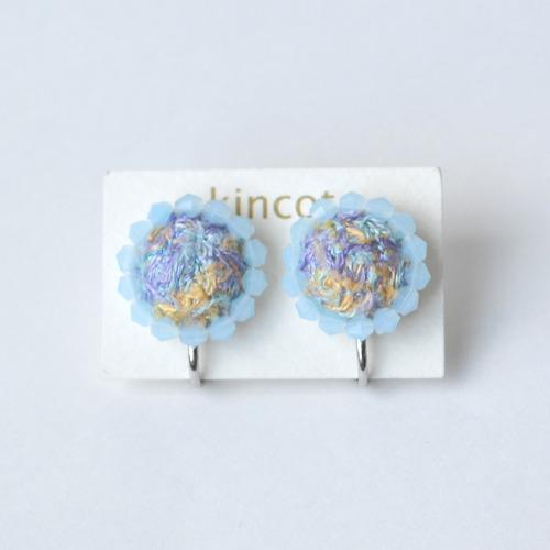 kincot 色糸 小さなまるイヤリング(ビーズ×ミックス)