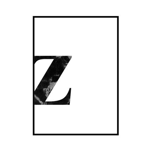 """""""z"""" 黒大理石 - Black marble - ALPHAシリーズ [SD-000553] A4サイズ ポスター単品"""