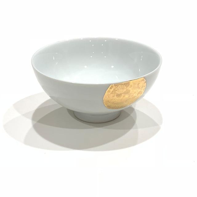 金彩丸紋梅  ご飯茶碗