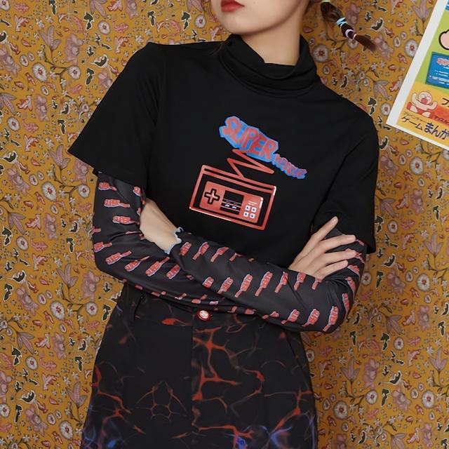 フェイクツーピースシャツ / HWG194