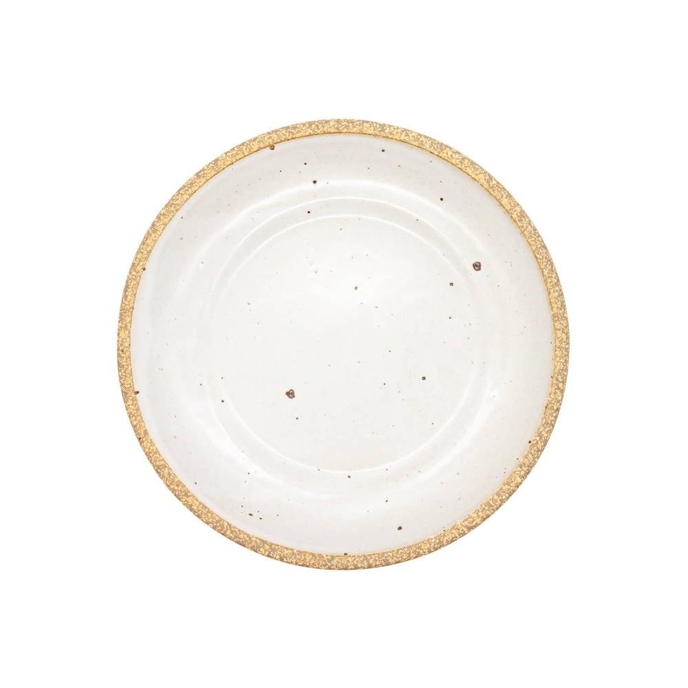 萬古焼 藍窯 スモールプレート 小皿 取り皿 直径約15cm 「エスタ Esta」 赤土ホワイト AGM-200113