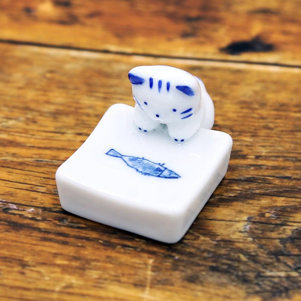 猫箸置き(猫付正角箸置)