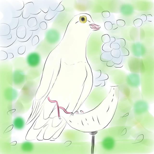 絵画 インテリア アートパネル 雑貨 壁掛け 置物 おしゃれ 風景画 アブストラクトアート 鳩 ロココロ 画家 : YUTA SASAKI 作品 : 遠くを見ていた鳩