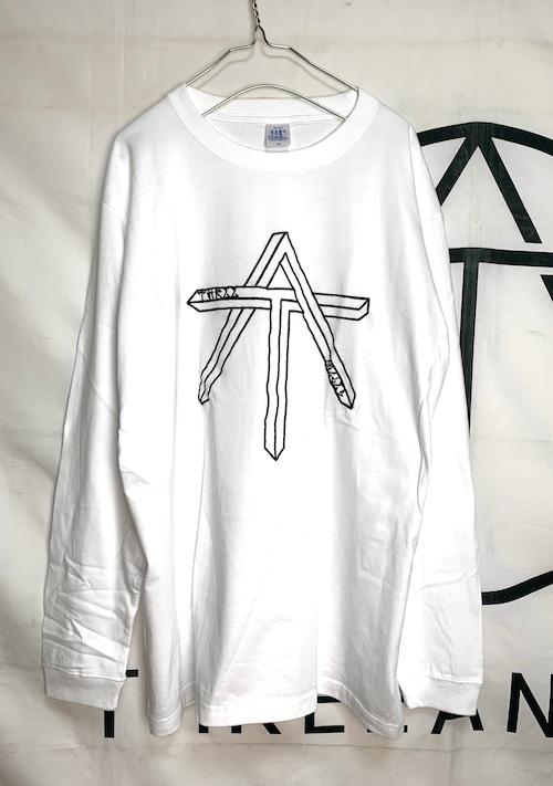 刺繍logo long sleeve tee