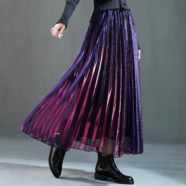 グラデーションカラー プリーツスカート(3color) D201003
