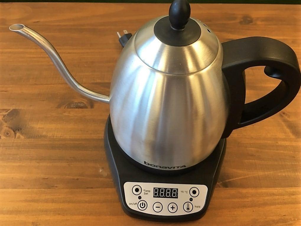 【国内正規品】bonaVITA(ボナヴィータ) 1リットルグースネック電気湯沸ケトル日本仕様
