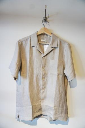 French Linen Open Collar S/S Shirt [Ecru]