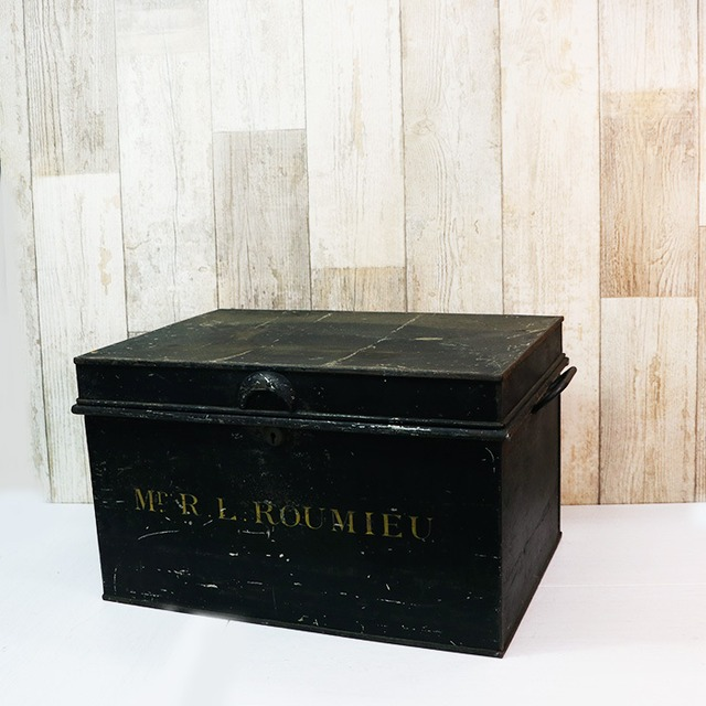【V-15】Mr.R.L.ROUMIEU 黒BIGブリキ缶ボックス