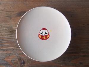 かわいいだるまの縁起豆皿|会津漆器 食器| ほくるし堂