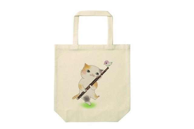 ファゴット猫のトートバッグ