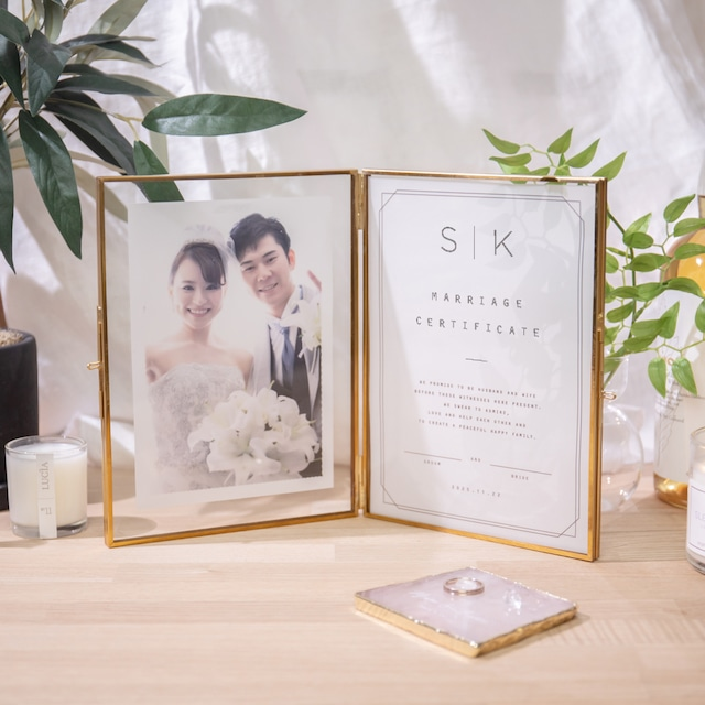 【結婚証明書】イニシャル|トレーシングタイプ