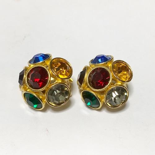 Vintage Multicolor Bijoux Earrings