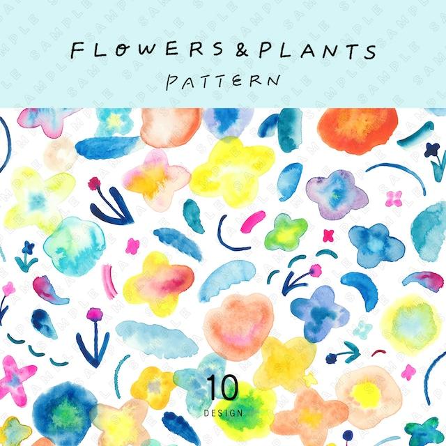 FLOWERS & PLANTS PATTERN 10点セット