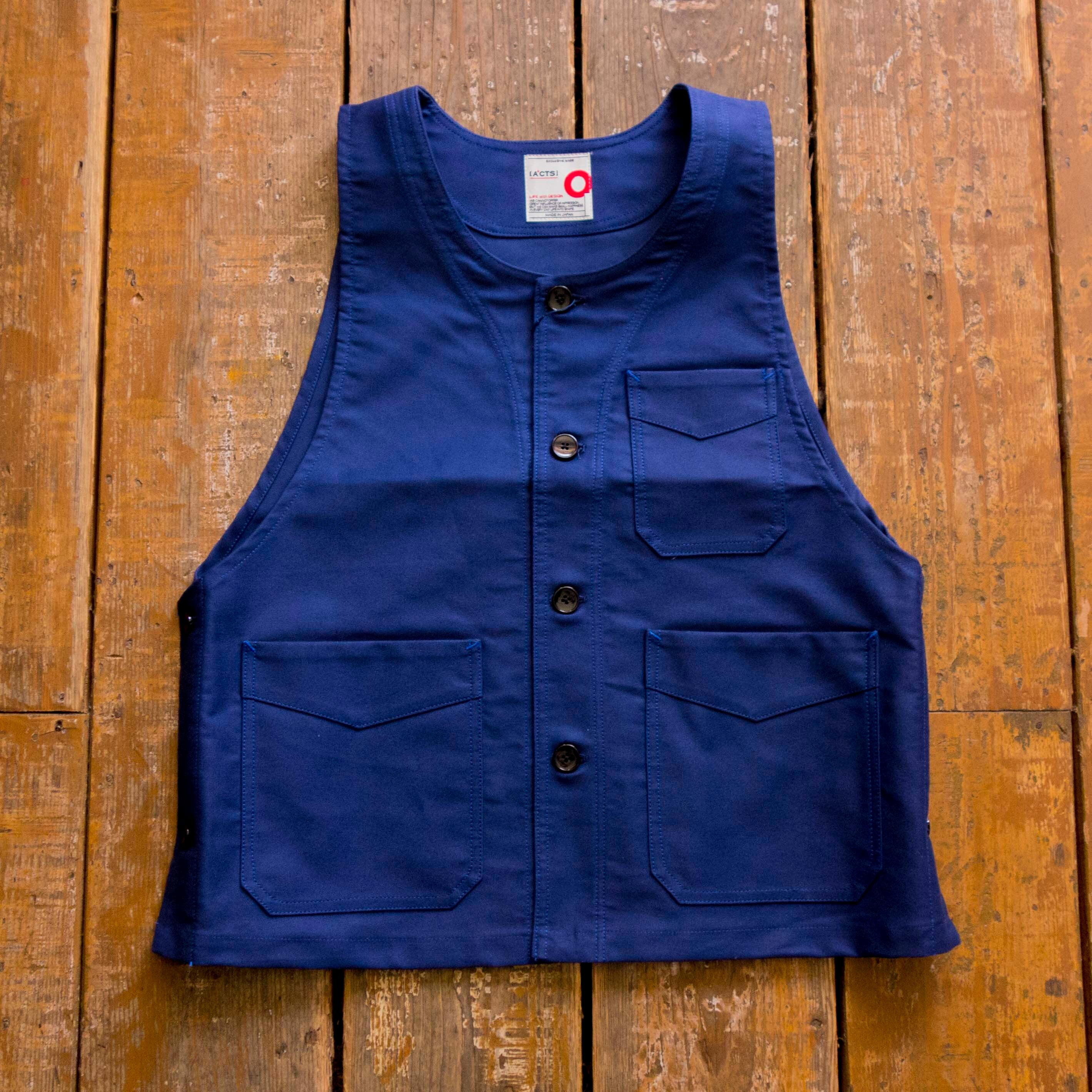 [ACTS] VEST A52002 (NAVY)