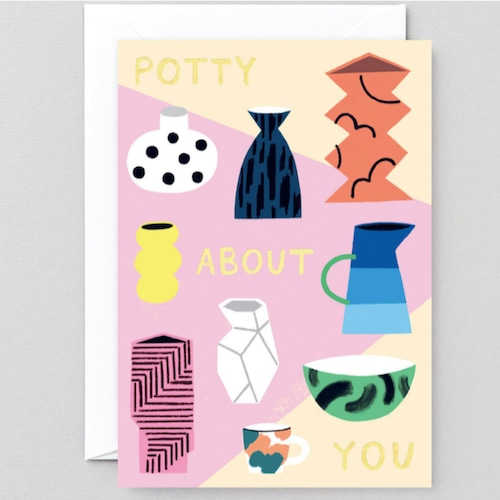 WRAP / Potty About You ART CARD - Illustrated by Charlotte Trounce-