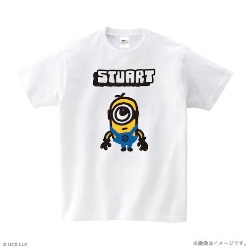 Tシャツ/ミニオン(スチュアート ホワイト)【MINIONS POP UP STORE 限定】