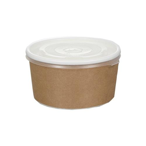 12オンス アイス&スープカップ (クラフト風)