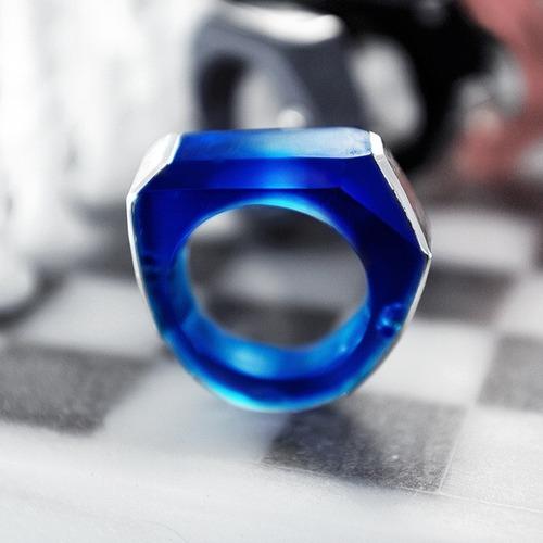 +heptágono・リング (+ブルー色)