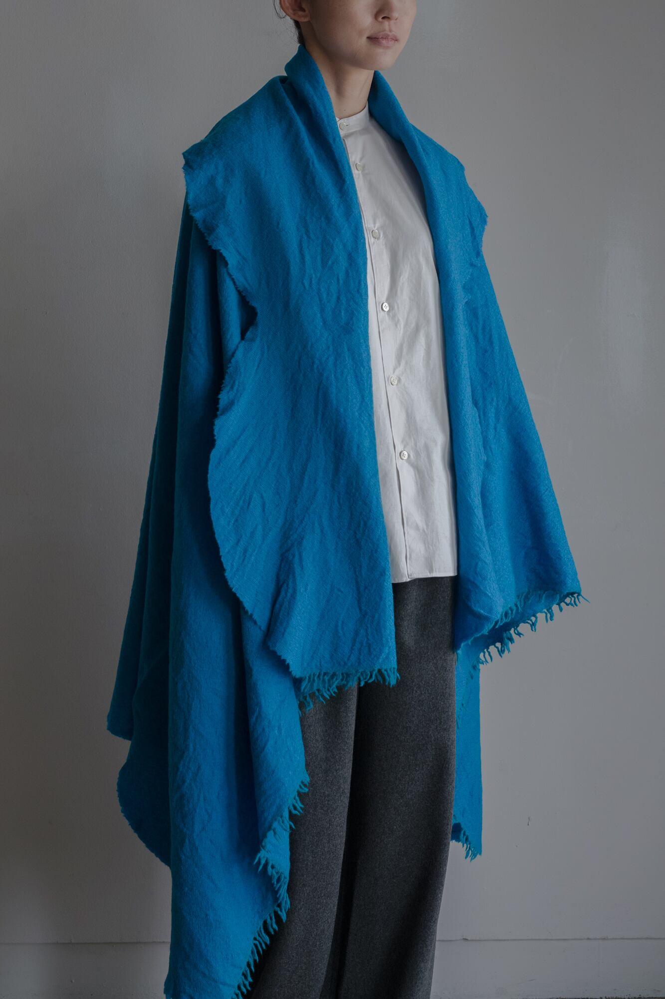 01602-3 chambray cut stole / turquoise,lightblue