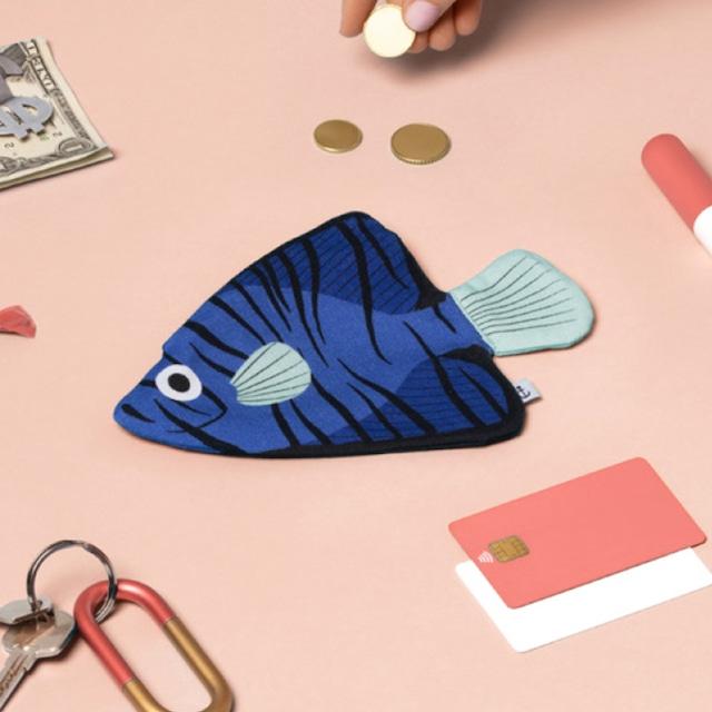 《魚/深海魚》 おさかなポーチ DON FISHER ドンフィッシャーBLUE BATFISH バットフィッシュ スペイン 輸入雑貨 ブルー
