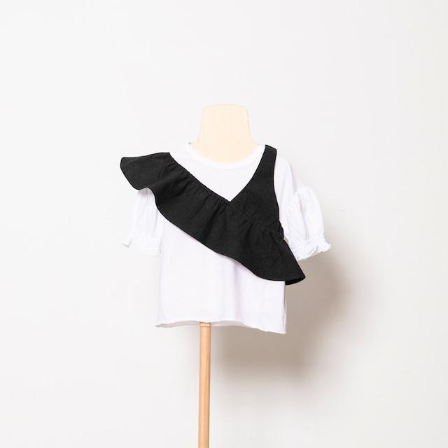 folk made one shoulder (black) Lサイズ F21SS011※メール便1点までOK