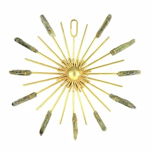 Ariana Ost Sunburst Healing Crystal Grid Gold Green Kyanite クリスタルグリッド ゴールド/グリーンカイヤナイト