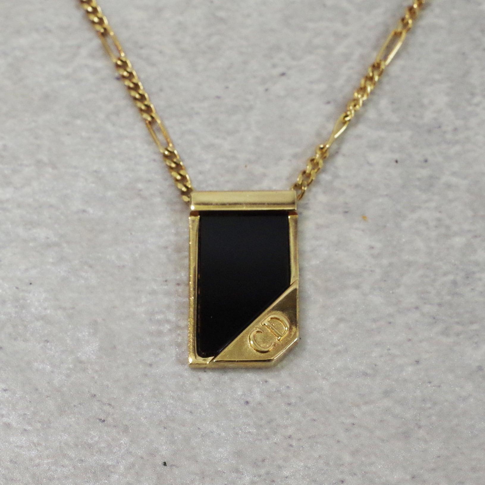 Christian Dior ディオール ネックレス ゴールド ブラック アクセサリー