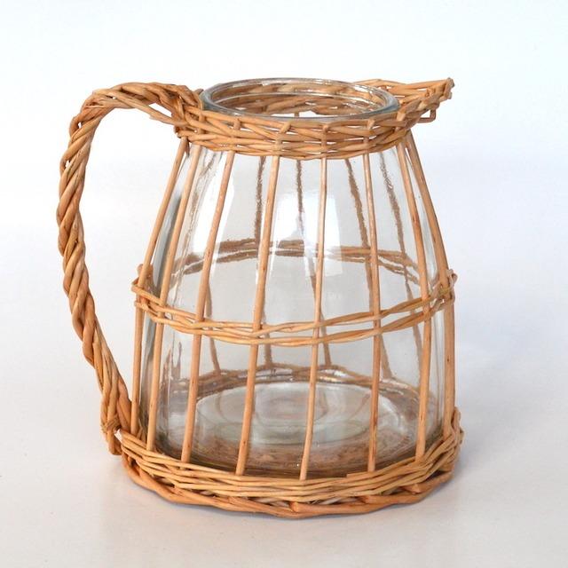 ウィローガラスピッチャーS 9138 花瓶 ガーデニング 花器 フラワーベース インテリア おしゃれ カフェ風 インテリア シンプル 花びん