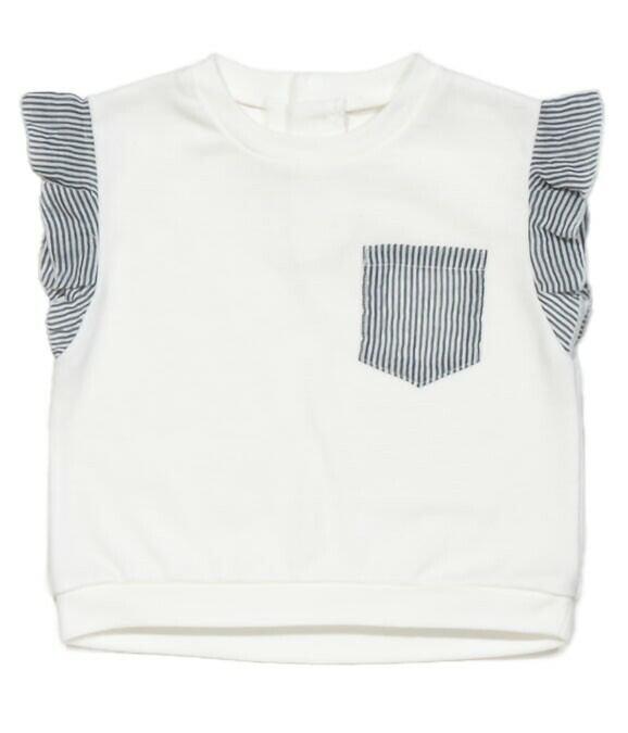 【ベビー服】肩フリルTOPS / バニラ / 80サイズ100サイズ